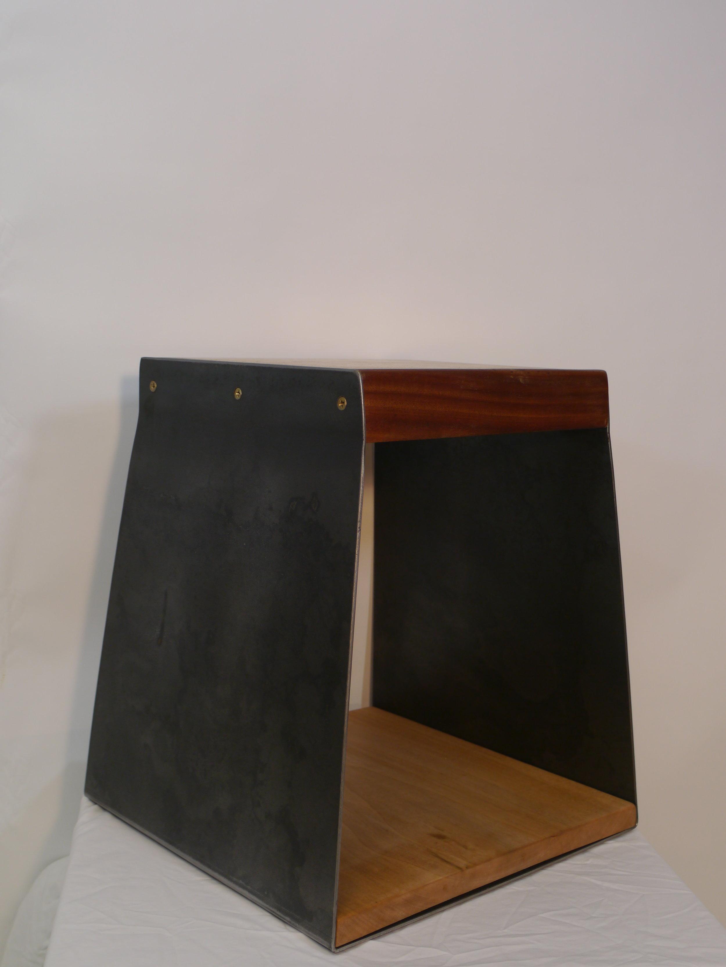 Oak steel and sapele side table (26).JPG