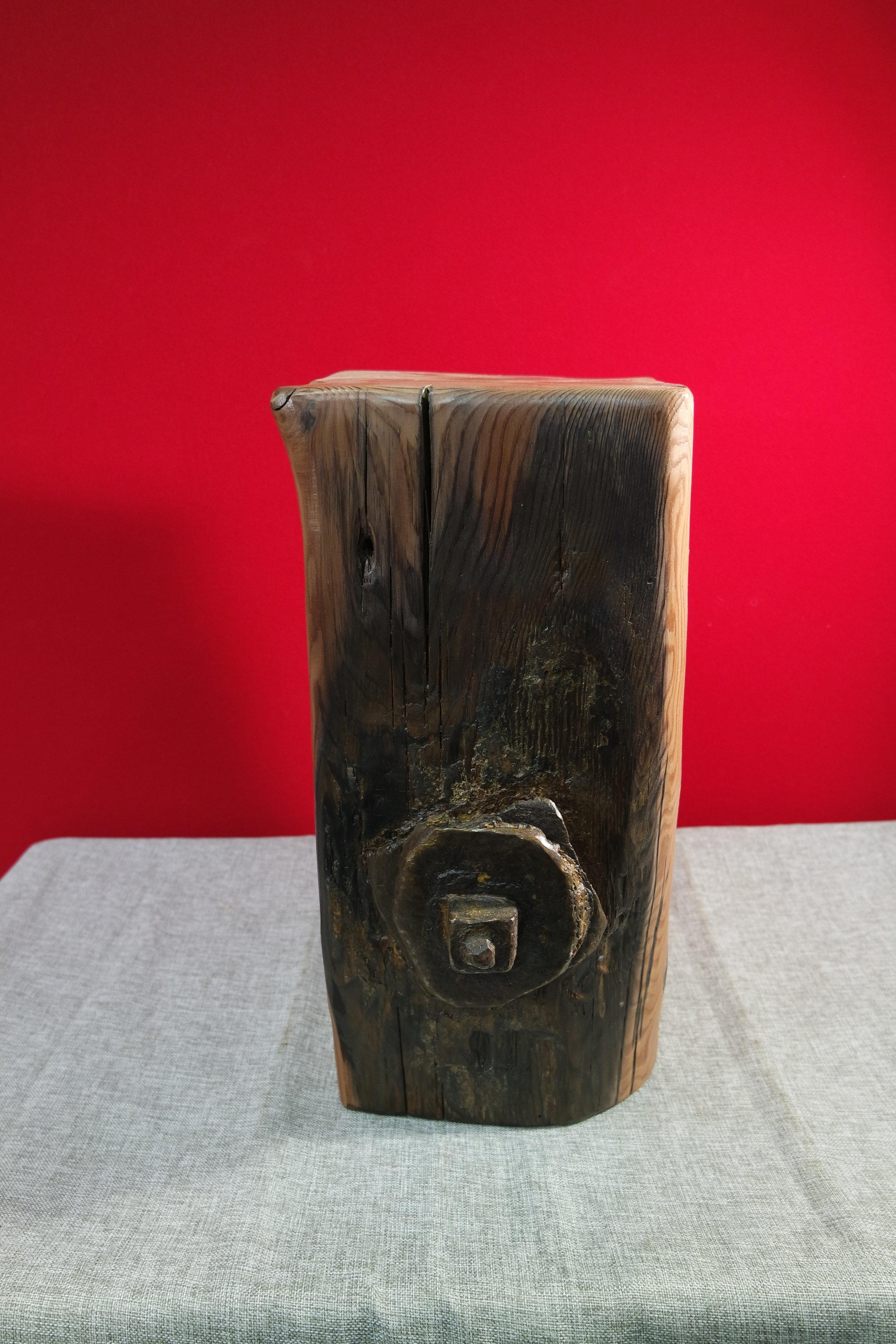 Driftwood Stool with Iron Bolt No I (21).JPG