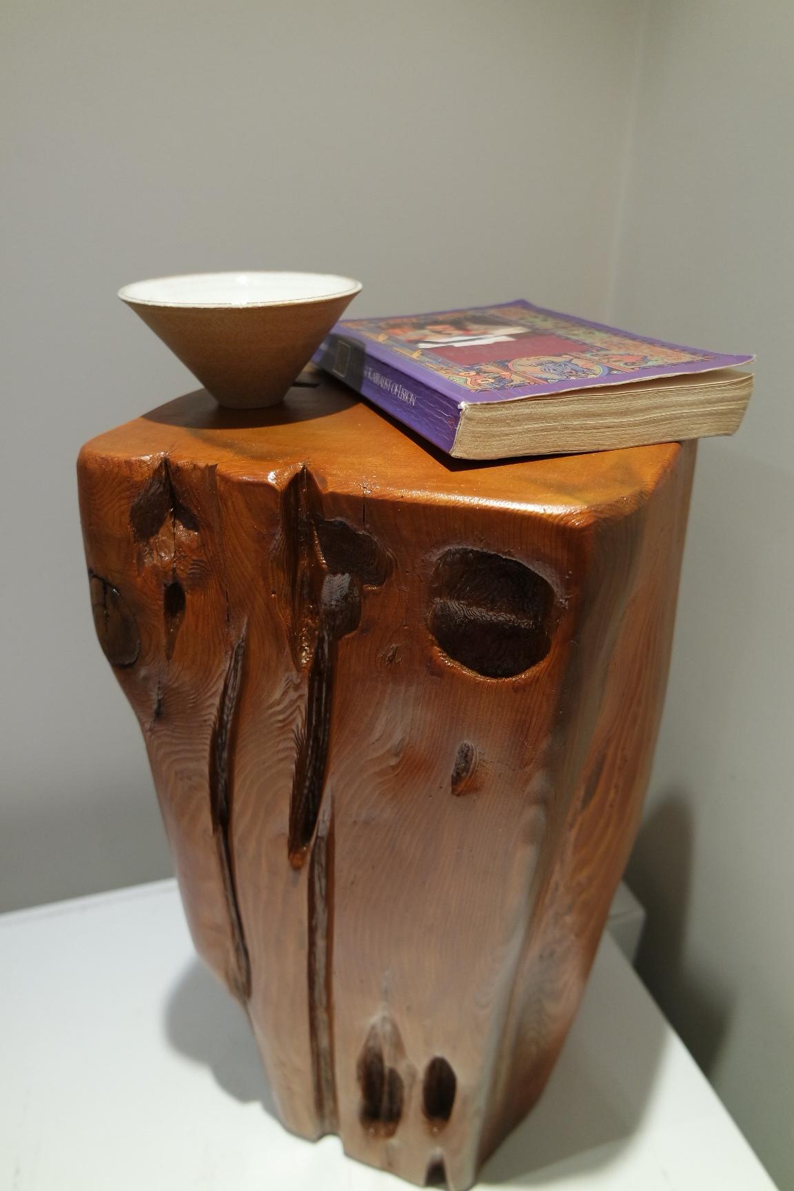 A driftwood side table stool / Une petite table en bois flotté - tabouret
