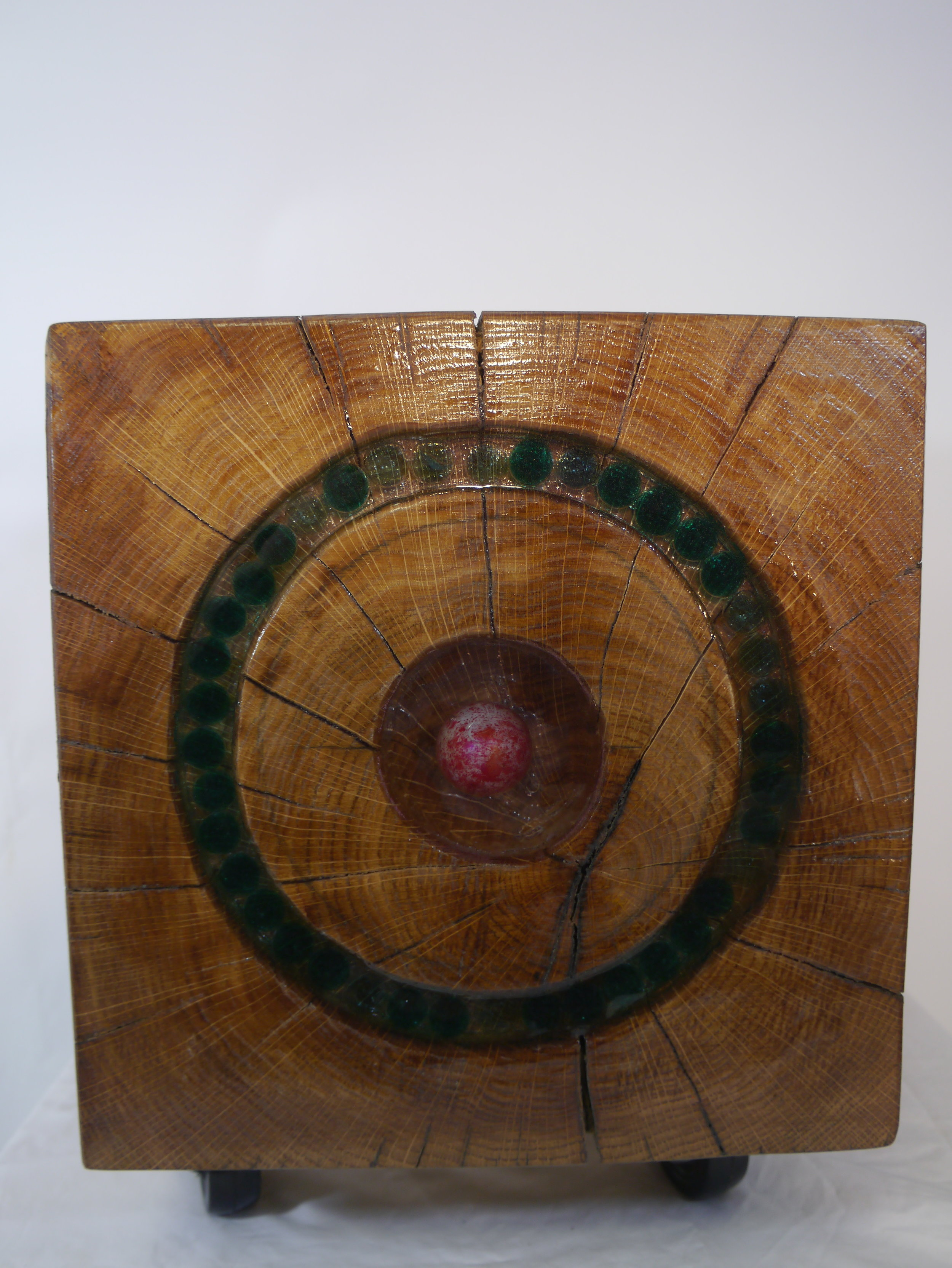 Oak Cube with circle green marble insert (2).JPG
