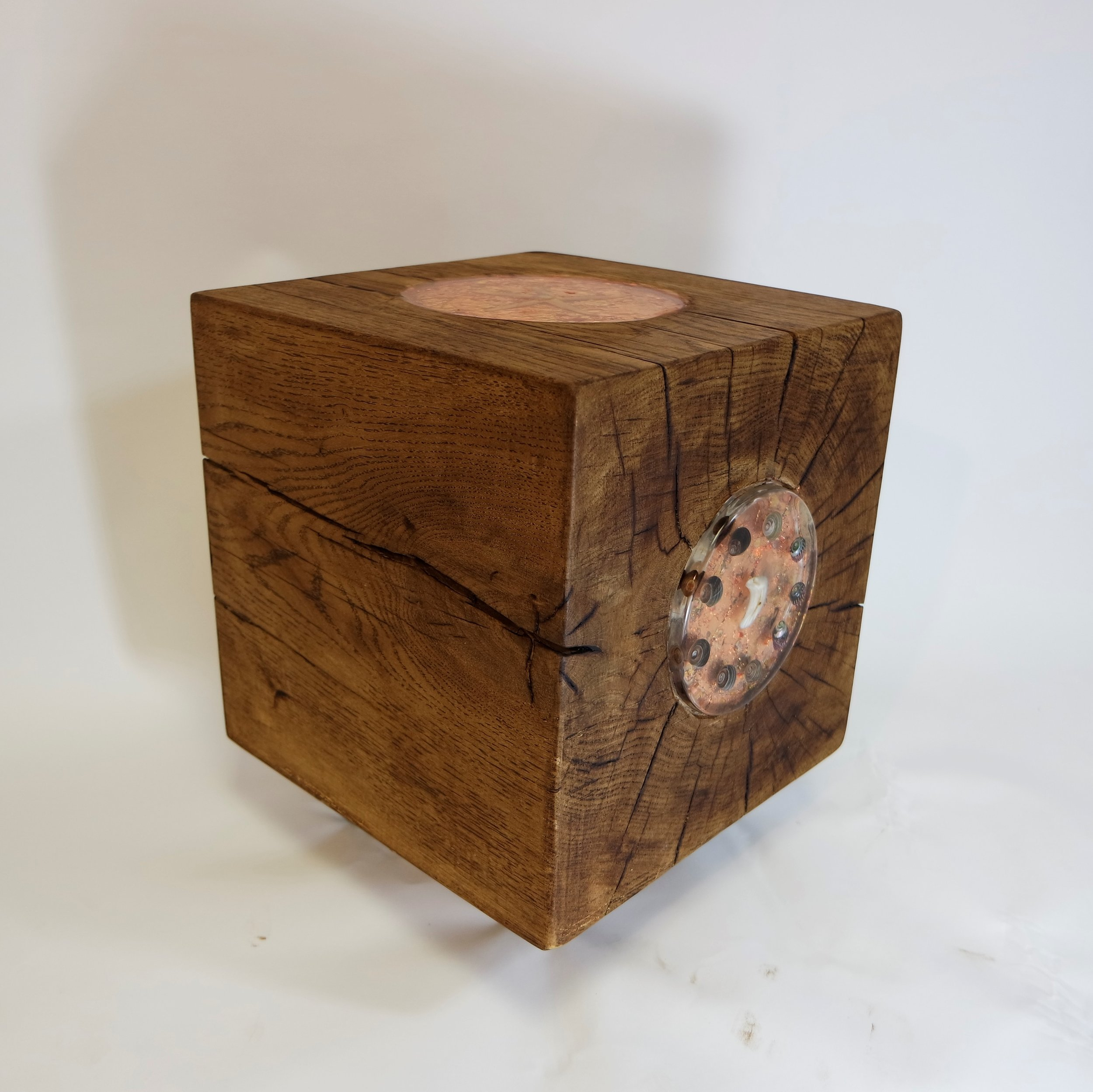 Oak Cube With Bronze Leaf and shells  (34).JPG