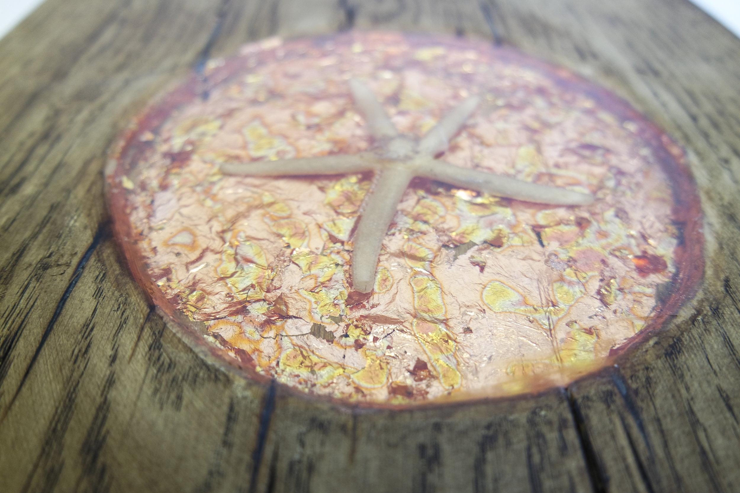 Oak Cube With Bronze Leaf and shells  (51).JPG