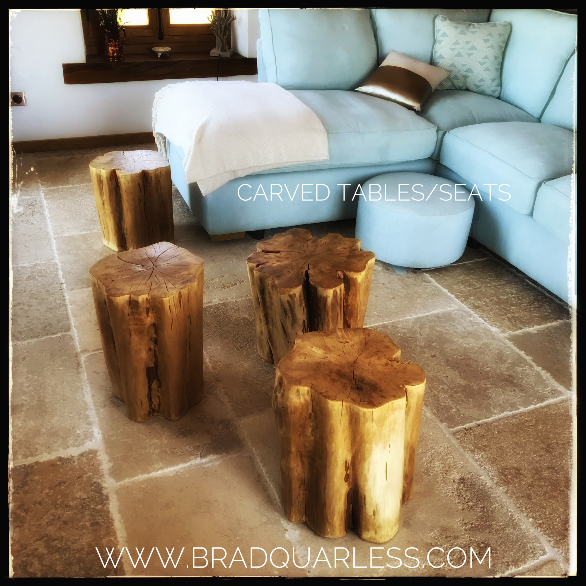 Carved table seats