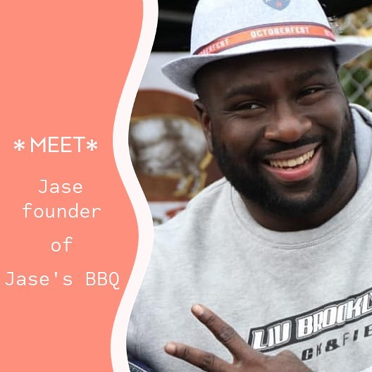 Meet Jase founder of Jase's BBQ.  Caribbean style barbecue 🤤🤤🍤 ====== HELLA BROOKLYN!! 🎈🍖🍗🎈 June 29th 11am to 6pm Bring your friends, family, coin purse, appetite, street fashion, and good vibes to 202 Eastern Parkway (📍Washington Street between Eastern Parkway & President Street). #hellabrooklyn #inthepearlmarket