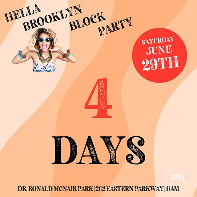 📣 FOUR MORE DAYS!  Till #HELLABROOKLYN #dotherightthing and bring your friends, family, coin purse, appetite, street fashion, and good vibes!! ======= 🤸🏽‍♀️Brooklyn Come Through!! 🤸🏽‍♀️ June 29th 11am to 6pm 202 Eastern Parkway (📍Washington Street between Eastern Parkway & President Street). #HellaBrooklyn #inthepearlmarket