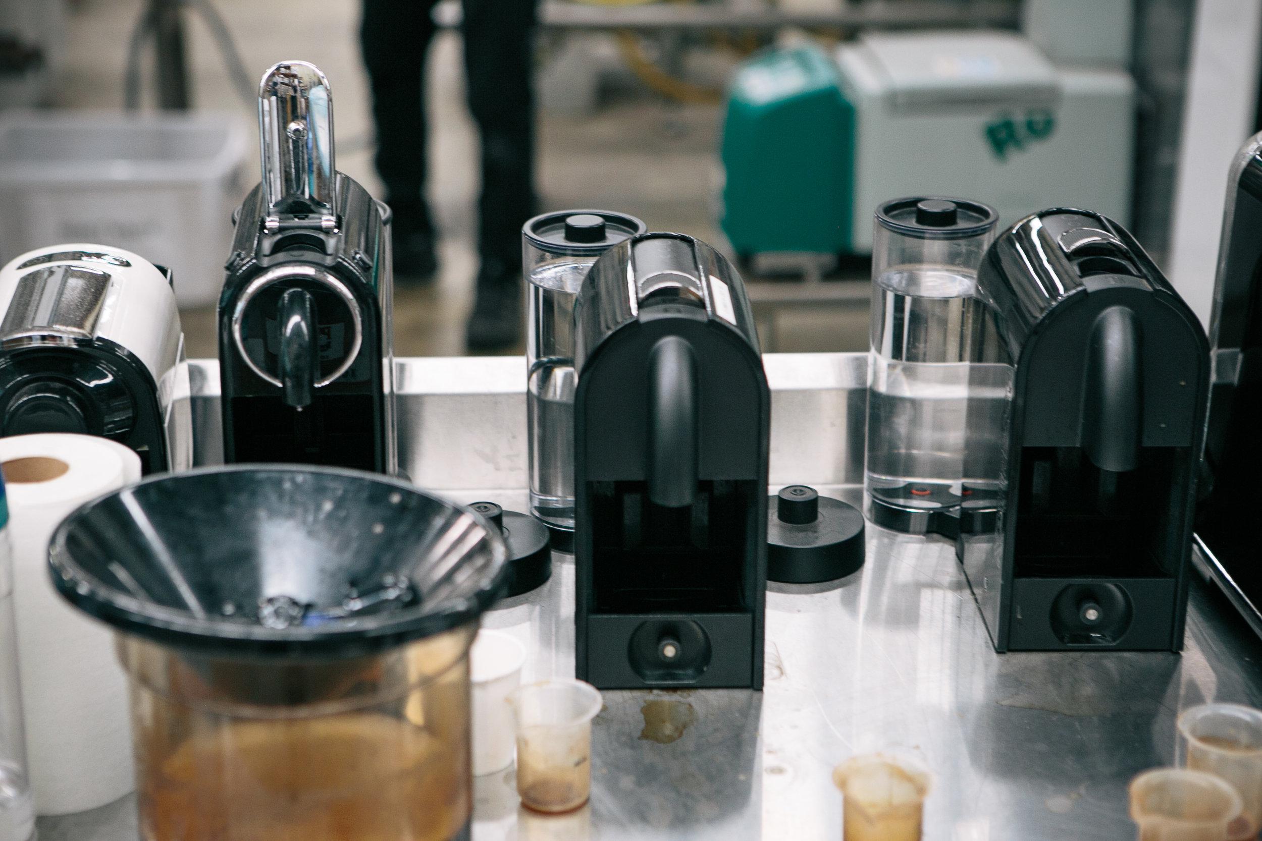 testing nespresso pods