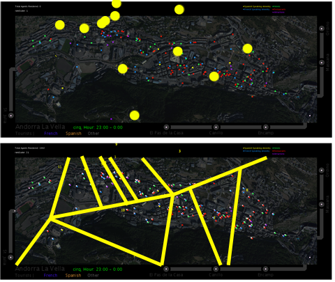 Figure 9b. Voronoi method used to allocate cell phone tower data to surrounding amenities. Image: Nina Lutz