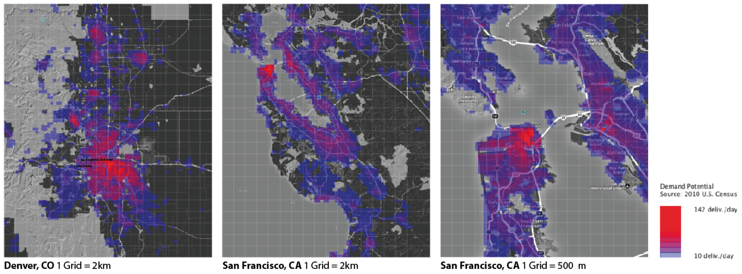Figure 3. Voxel-ized data can represent different areas at different scales.