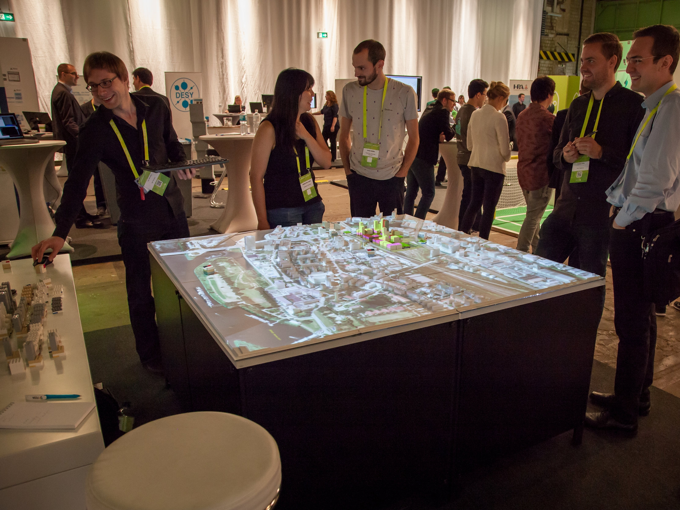 Hamburg Solutions Conference - Hacking the Tactile Matrix with Hafencity University Students. Photo by Benno Tobler Ziemer