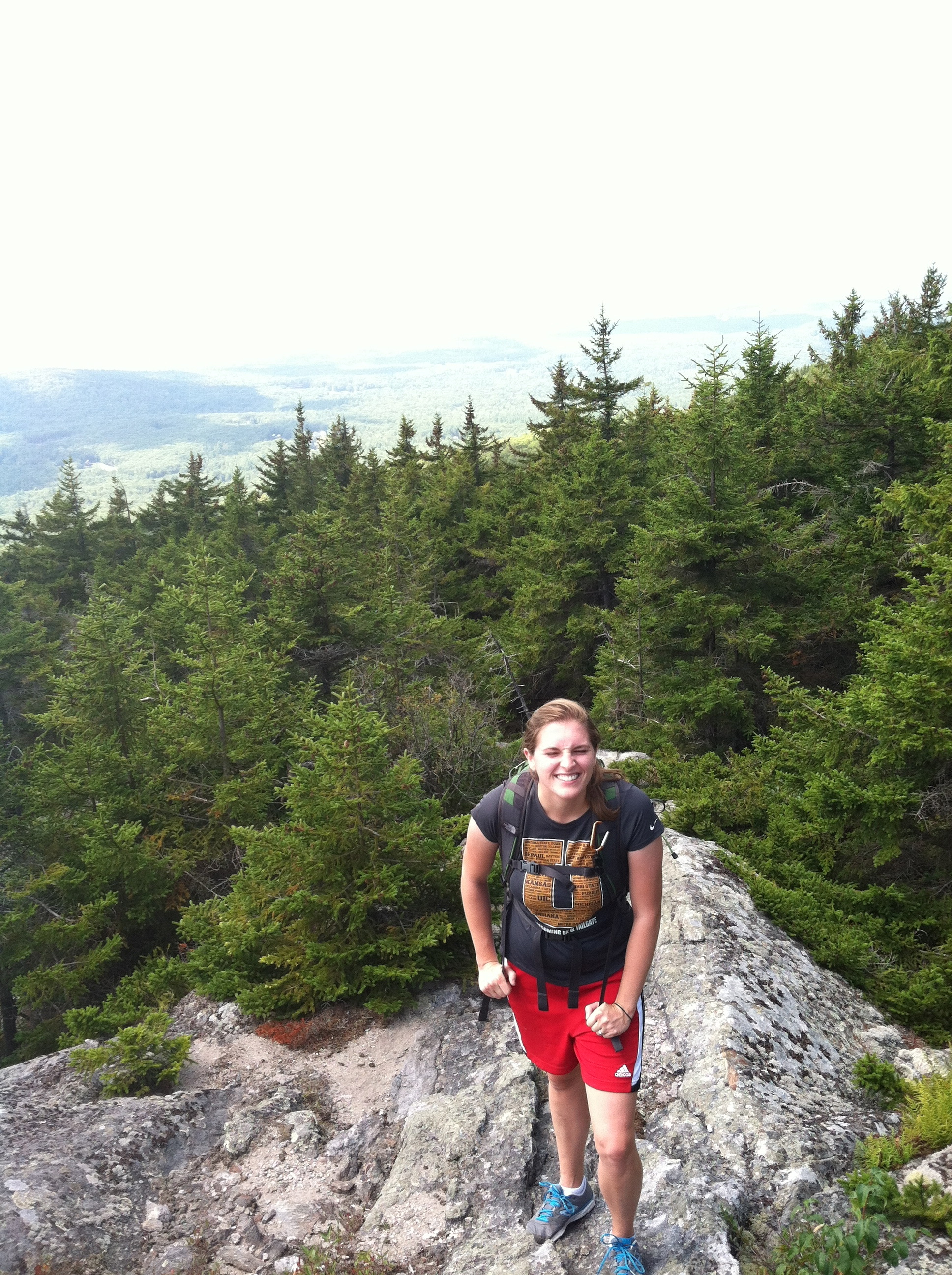 Gasping for breath on Mount Monadnock
