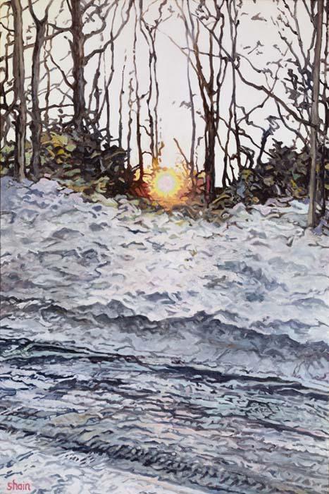 Shain Bard - Sun Setting Over an Icy Road