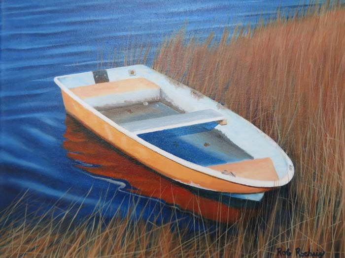 Orange Rowboat - Oil -11x14