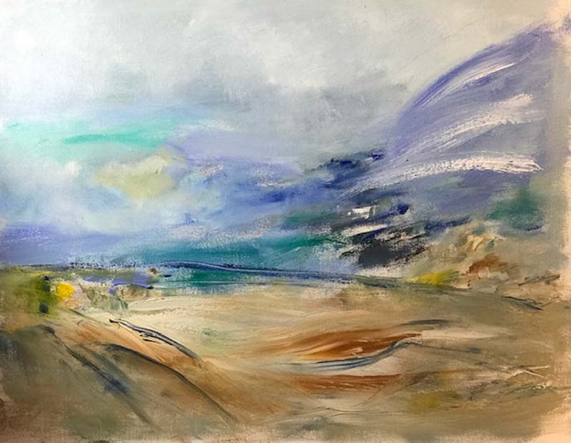 Paul Edelson-Landscape in Flux-Oil on Canvas-$875