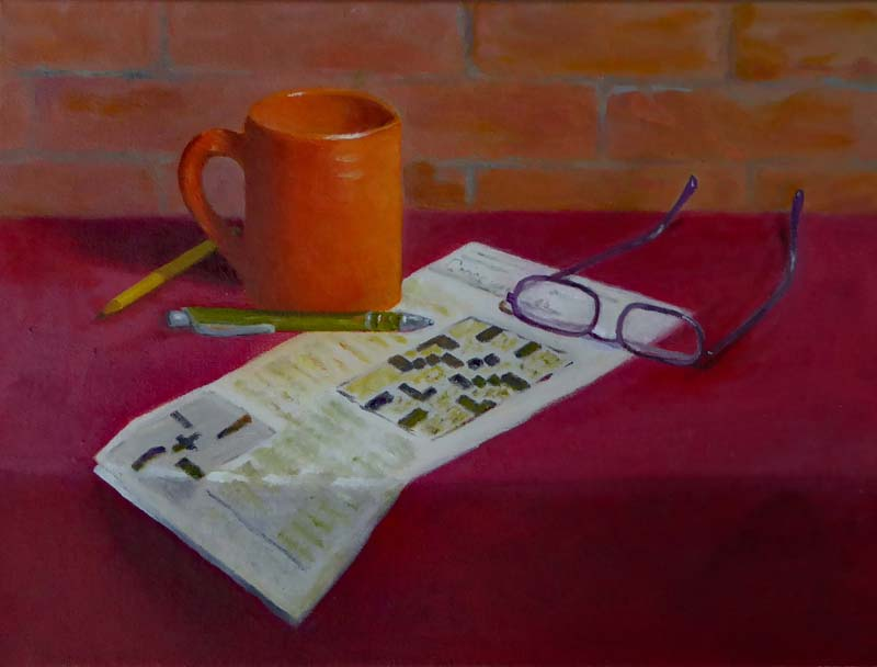 Anne Katz-Daily Crossword-Oil-$450