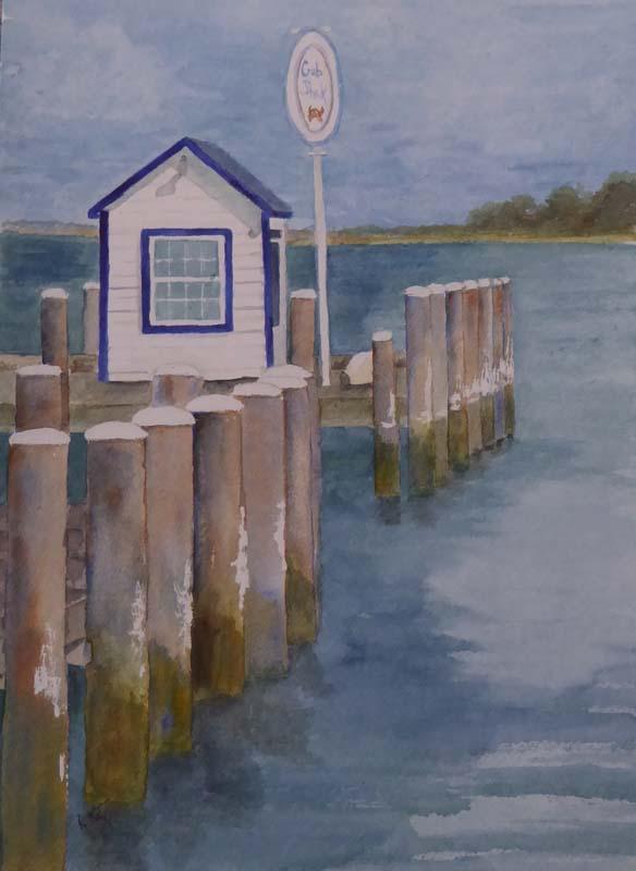 Anne Katz-Crab Shak-Watercolor-$300