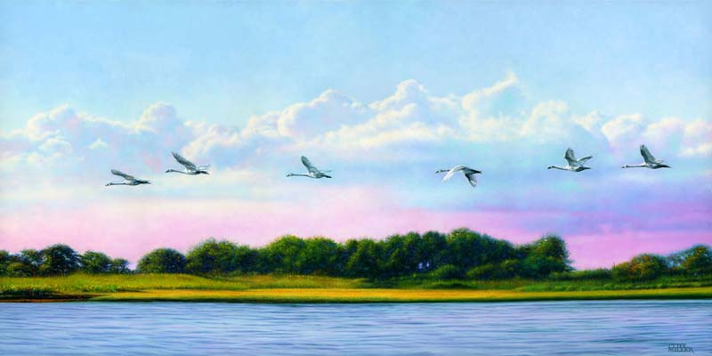 Cliff Miller-To Goose Island-Oil on Gesso Panel-$12000