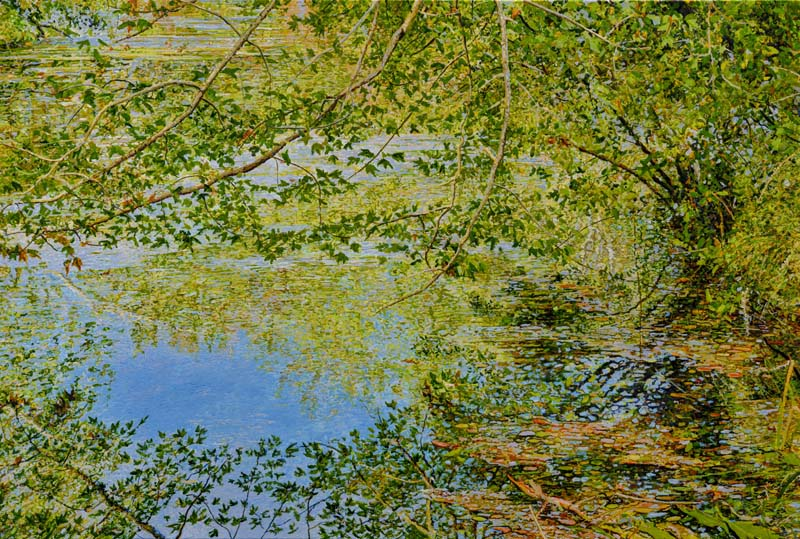 Ross Barbera-Along the Water's Edge in Avalon-Acrylic on Canvas-$3100