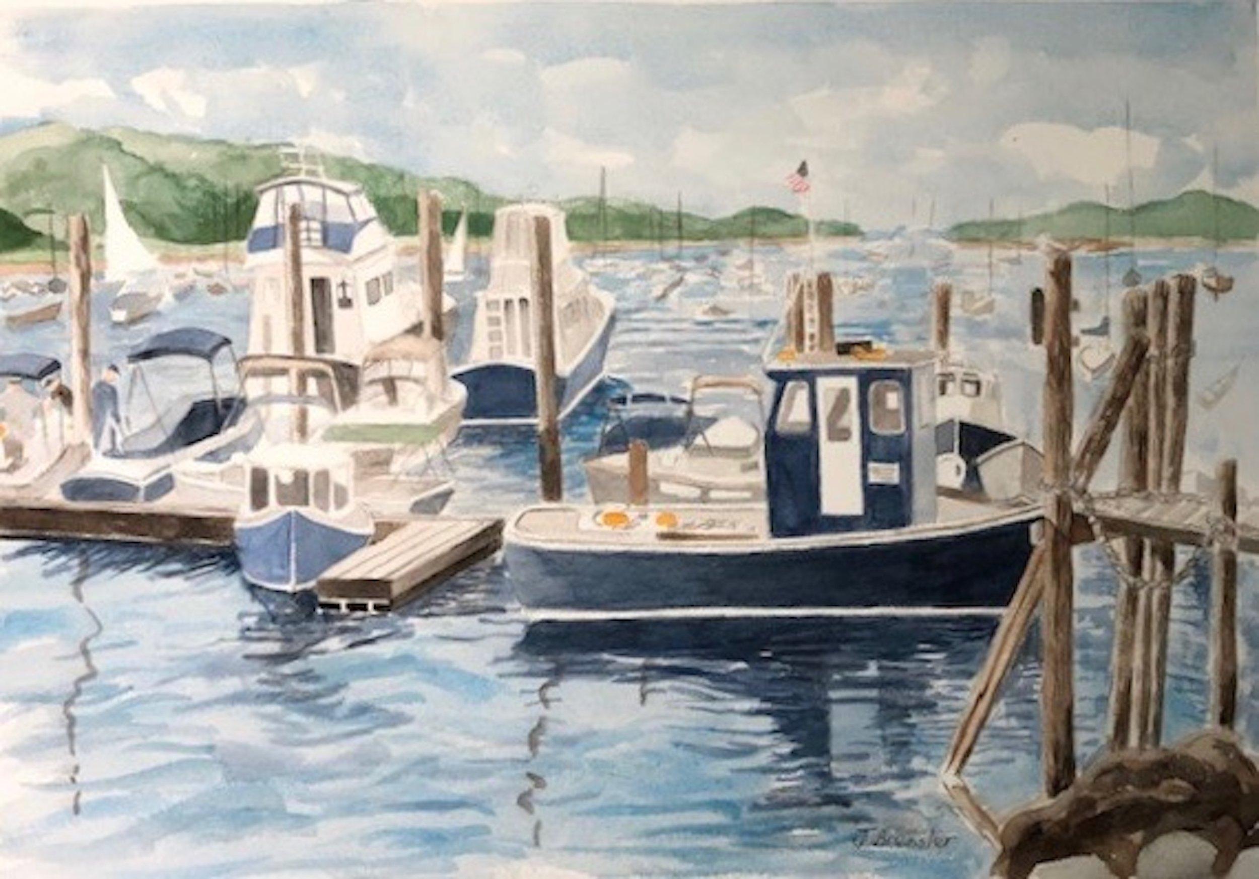 Joyce Bressler-Northport Spring-Watercolor-$350