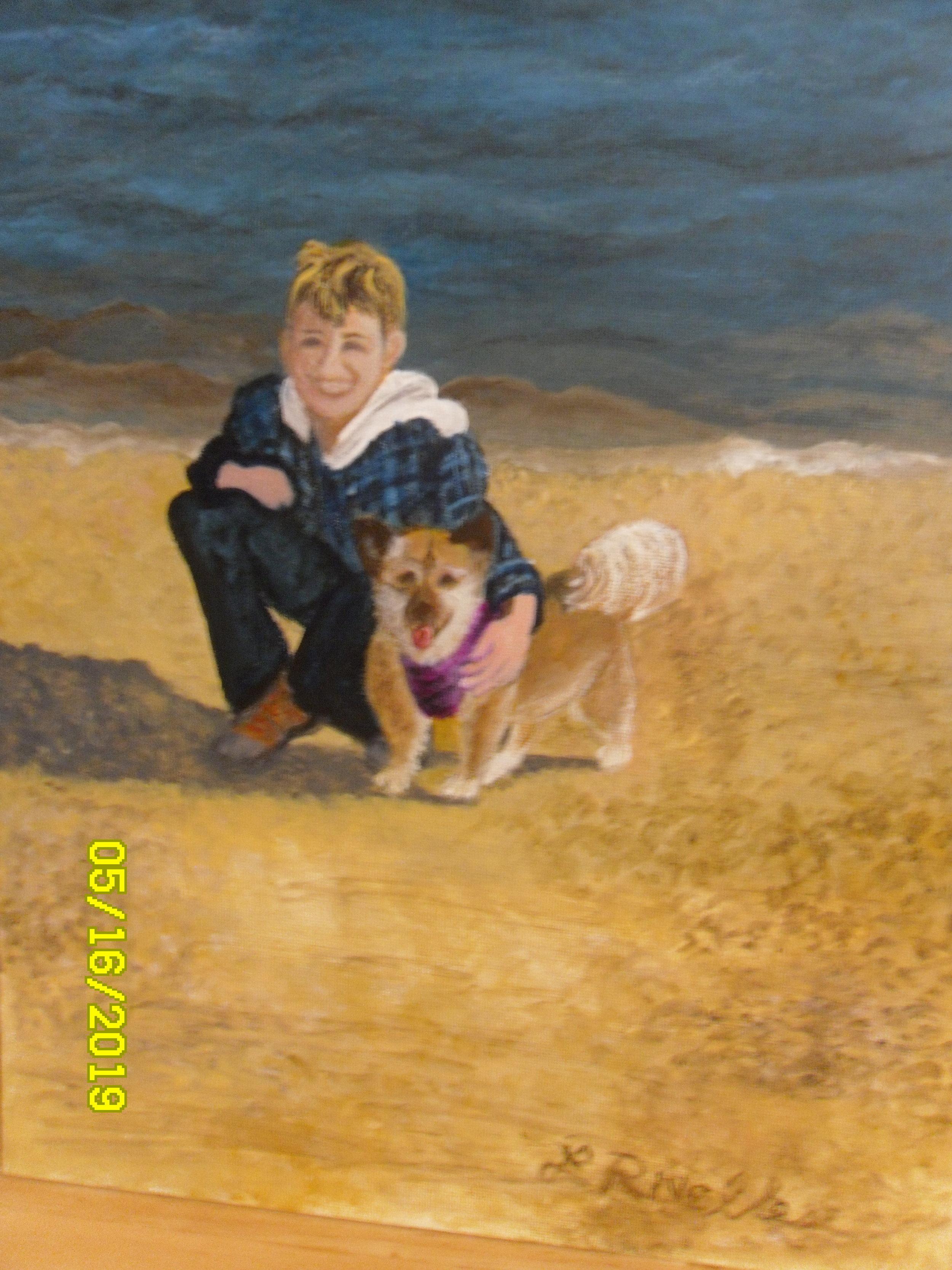 Lynne Rivellese-Enjoying Long Island's North Shore-Acrylic-$300