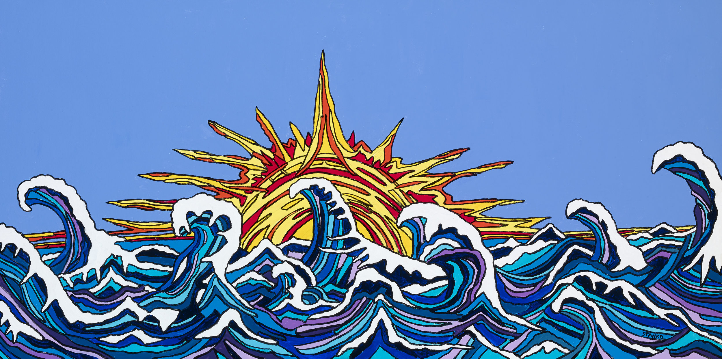 Mike Stanko-The Waving Sun-Acrylic-$800
