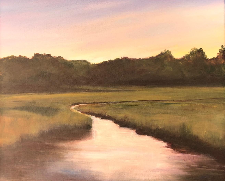 Patty Yantz-Afterglow, West Meadow-Acrylic on Canvas-$450