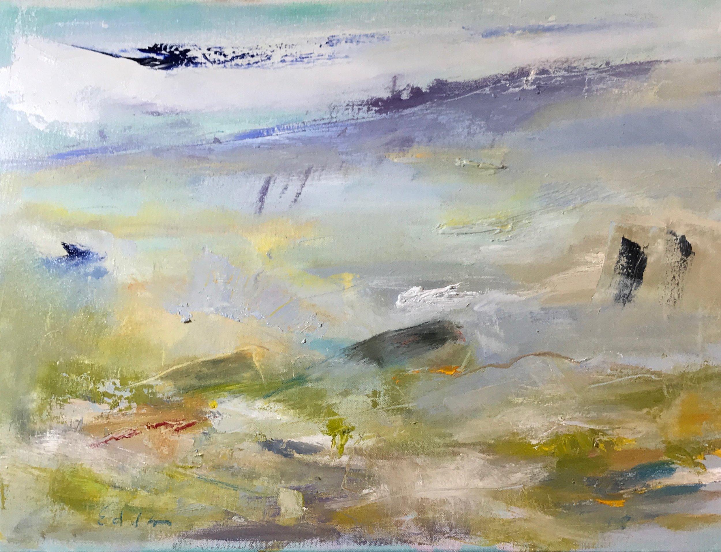 Paul Jay Edelson-Breaking Wave-Oil on Canvas-$875