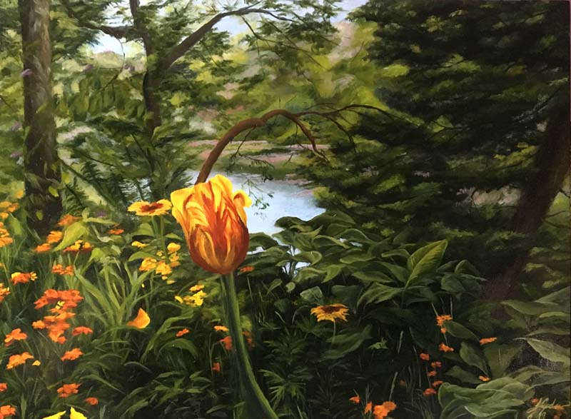 Jessica Capobianco-Flowers at Giverny-Oil on Wood.jpg