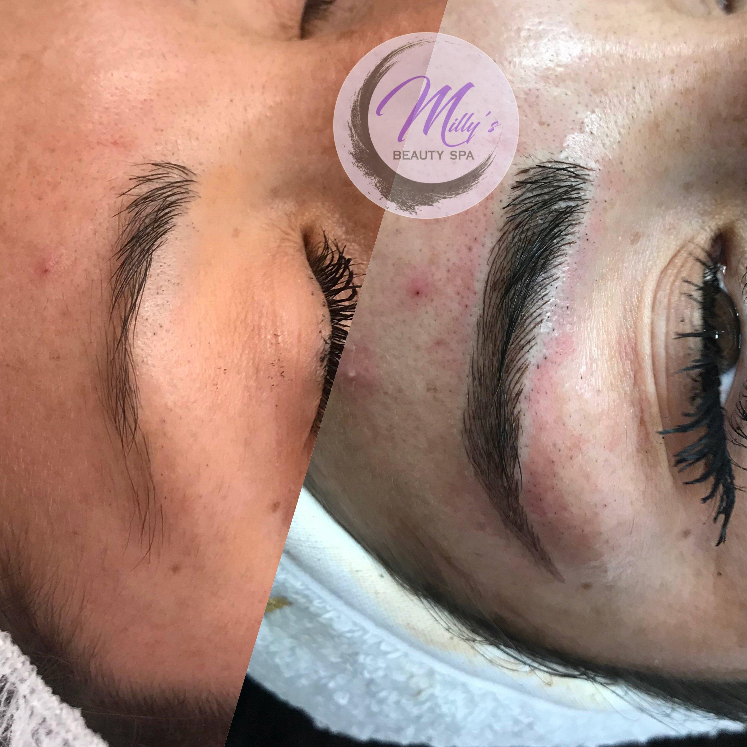 tattooed brows