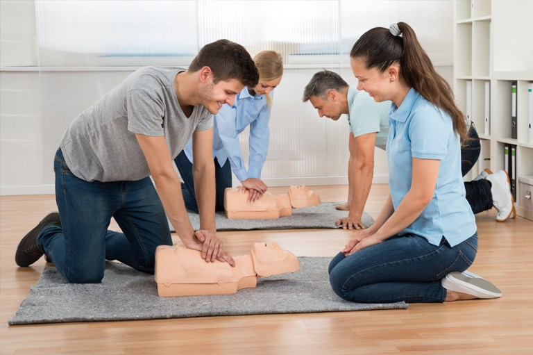 A hands-on , first aid/CPR class that covers infant care is one of the Safety Set Trainings.