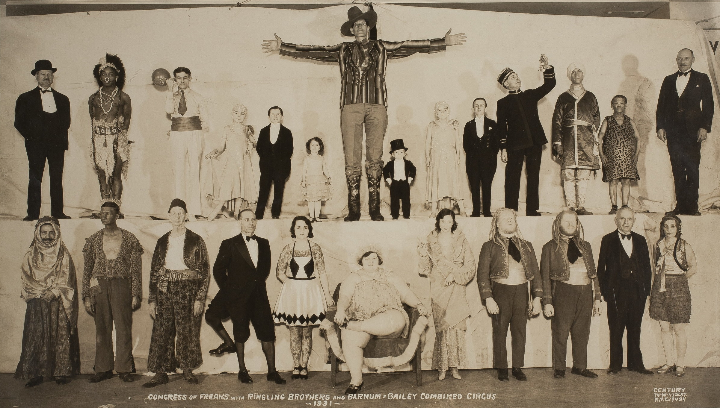 Congress of Freaks, Large Format Photograph, by E. J. Kelty, 1931
