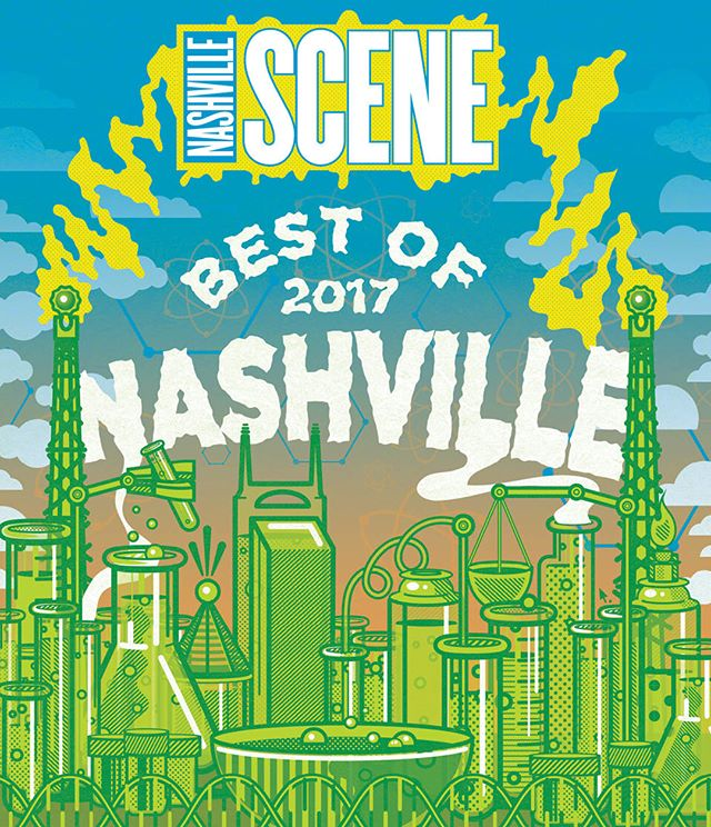 "We are ✨so✨ grateful to be the Writers' Choice for ""Best Beauty Tool"" in this year's @nashvillescene Best of Nashville issue! As two Nashville natives, being picked for #bestofnashville means a lot to us. You can listen to the interviews with @leahhofff, @valentimes, @lemon_laine, and @fabglance mentioned in the article on iTunes, the Podcasts app, or SoundCloud! #mirrormirrorpodcast"