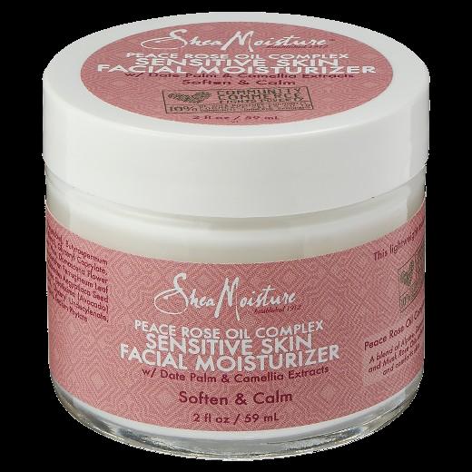 Shea Moisture Peace Rose Oil Complex Sensitive Skin Facial Moisturizer