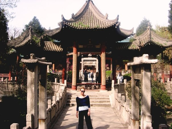 Hart studying abroad in China.