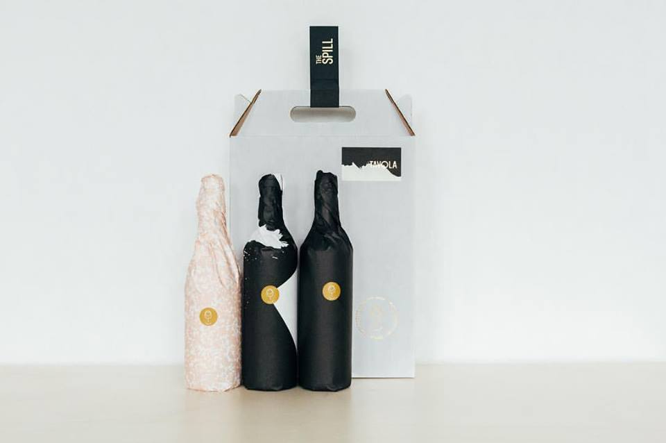 Tavola's beautifully-packaged monthly wine subscription service.  Photo by Heidi Ross