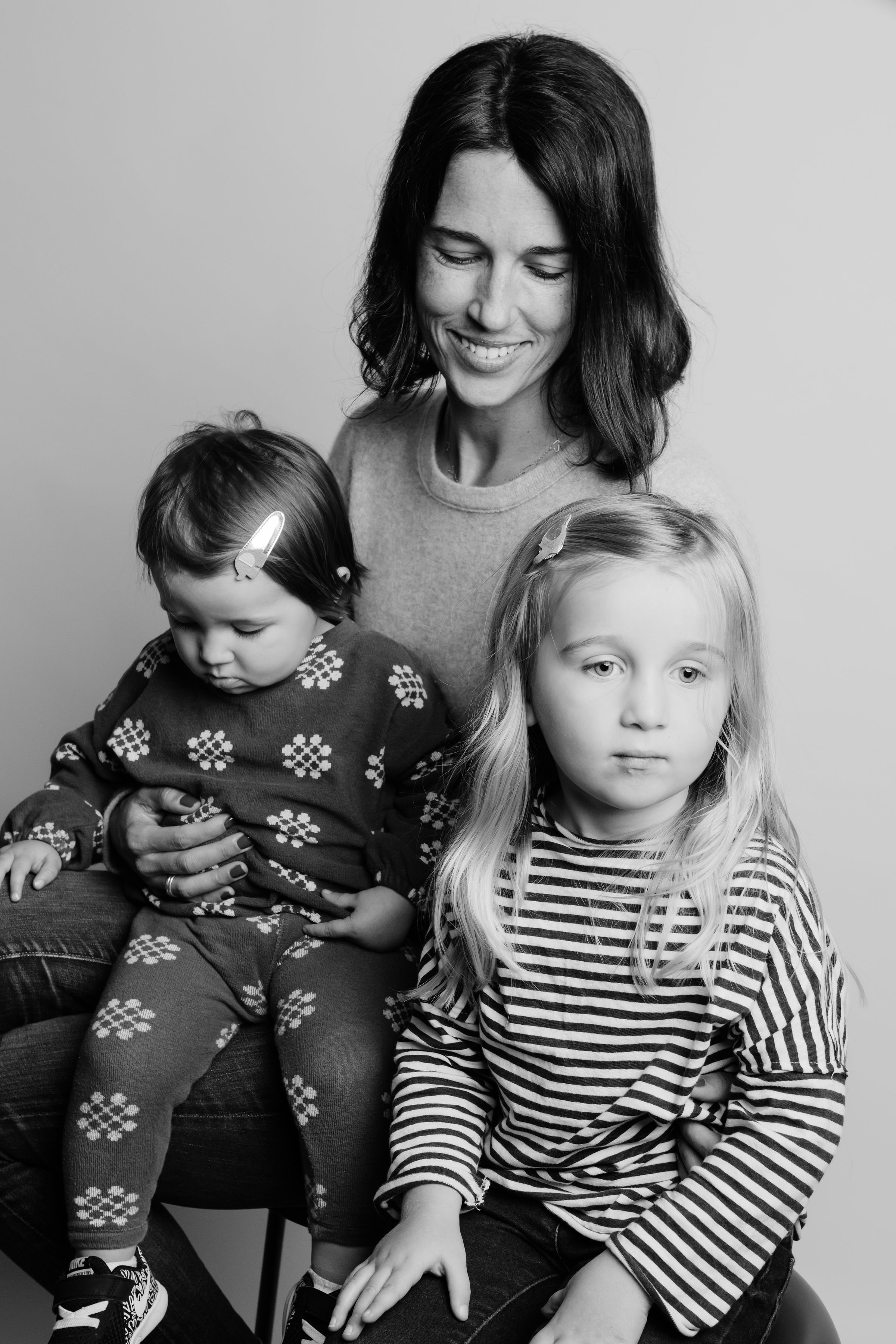 Jen and her two daughters.  Photo by Ashtin Paige