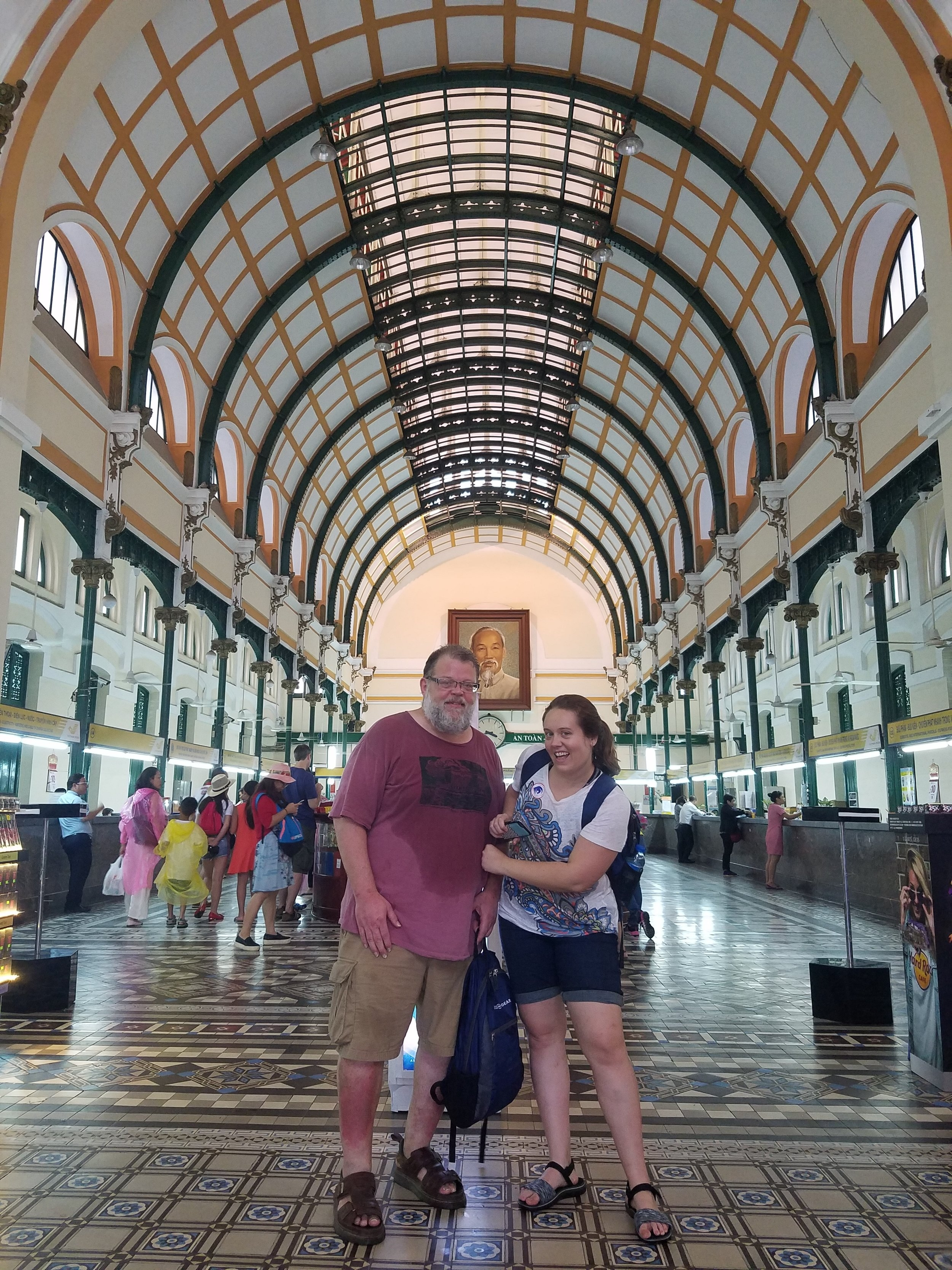 In the Ho Chi Minh Post Office