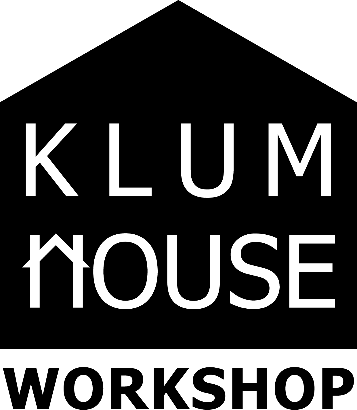 Klum house workshop logo B&W on clear.png