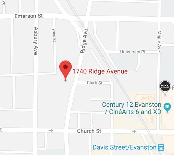 Evanston    1740 Ridge Avenue Lower Level, Suite 22 Evanston, Illinois 60201