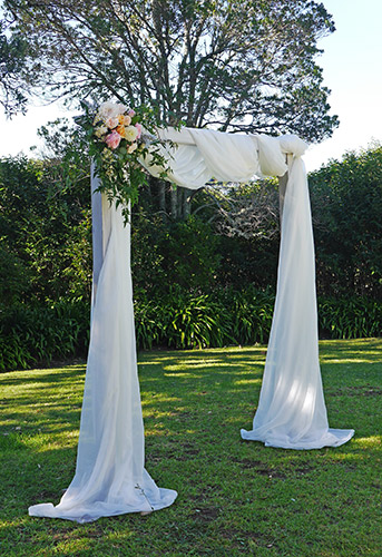 auckland wedding hire pop up ceremony set diy complete outdoor