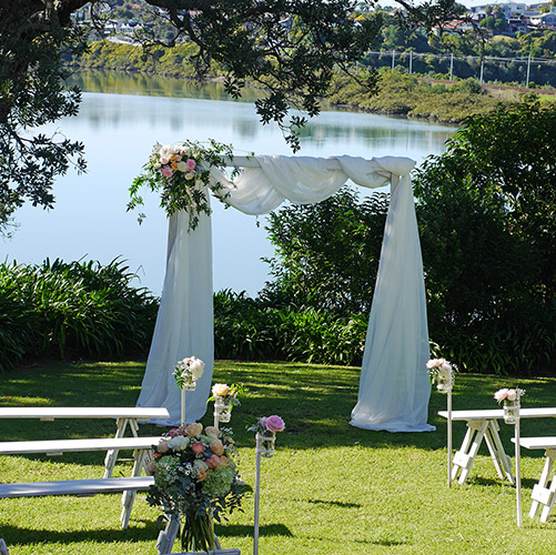 auckland wedding hire pop up ceremony set diy complete water