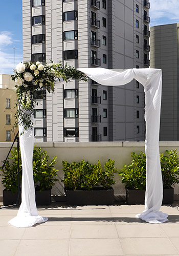 auckland wedding hire pop up ceremony set diy complete hotel