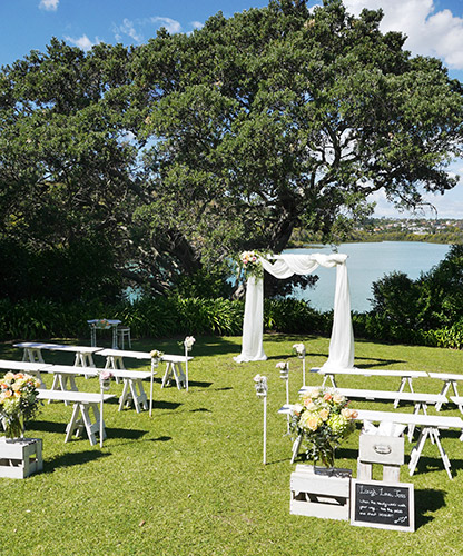 auckland wedding hire pop up ceremony set diy complete new zealand