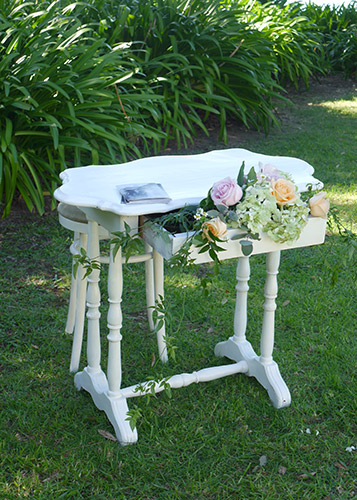 auckland wedding hire pop up ceremony set diy complete signing table
