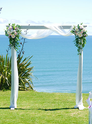 auckland wedding hire pop up ceremony set diy complete arch