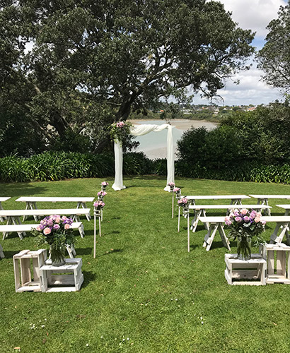 auckland wedding hire pop up ceremony set diy complete