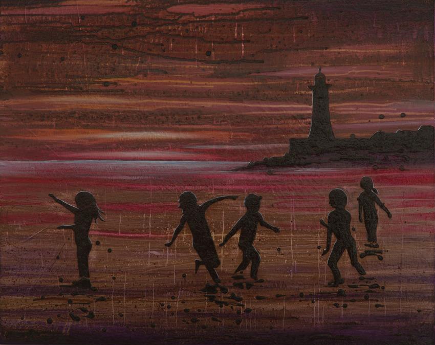 'Children at Sunset'