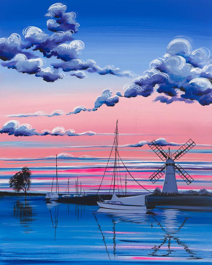 'Sunset over Thurne Staithe'