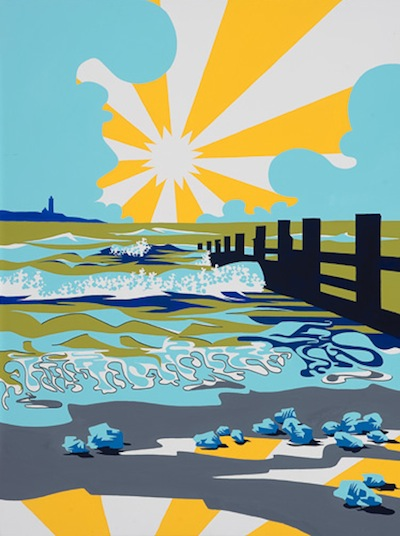 'Sunburst over Breakwater'