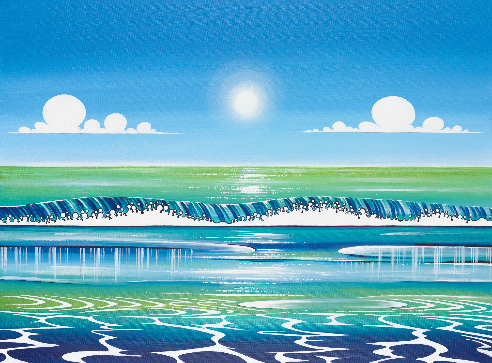 ' Calming Seas'  | Acrylic on Canvas  30 X 40 inch | Price available on request  Limited Edition Prints Available