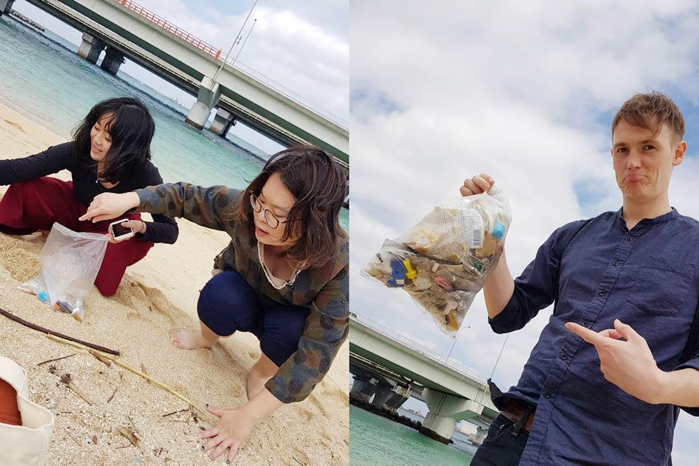到哪都可以淨灘的一群人,從台灣墾丁淨到日本沖繩。